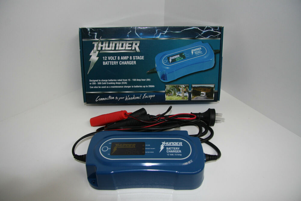 thunder 12 volt 8 amp 8 stage battery charger ebay. Black Bedroom Furniture Sets. Home Design Ideas