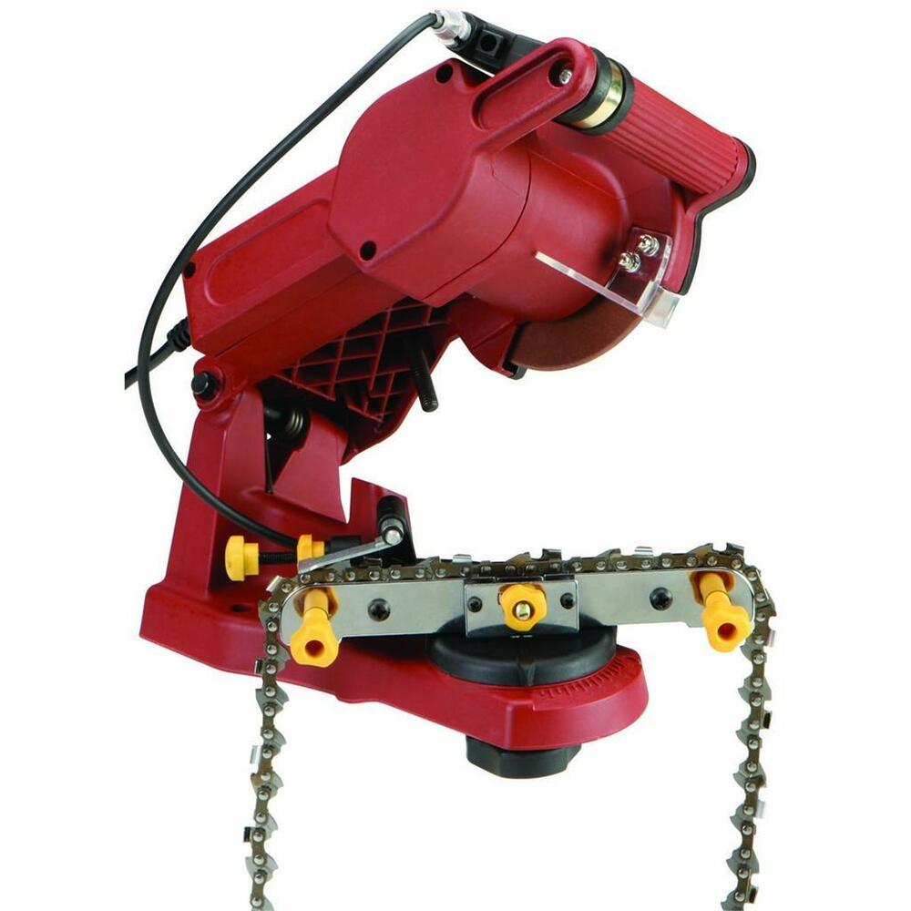 Saw Back Wall : New electric chain saw sharpener w vice wall