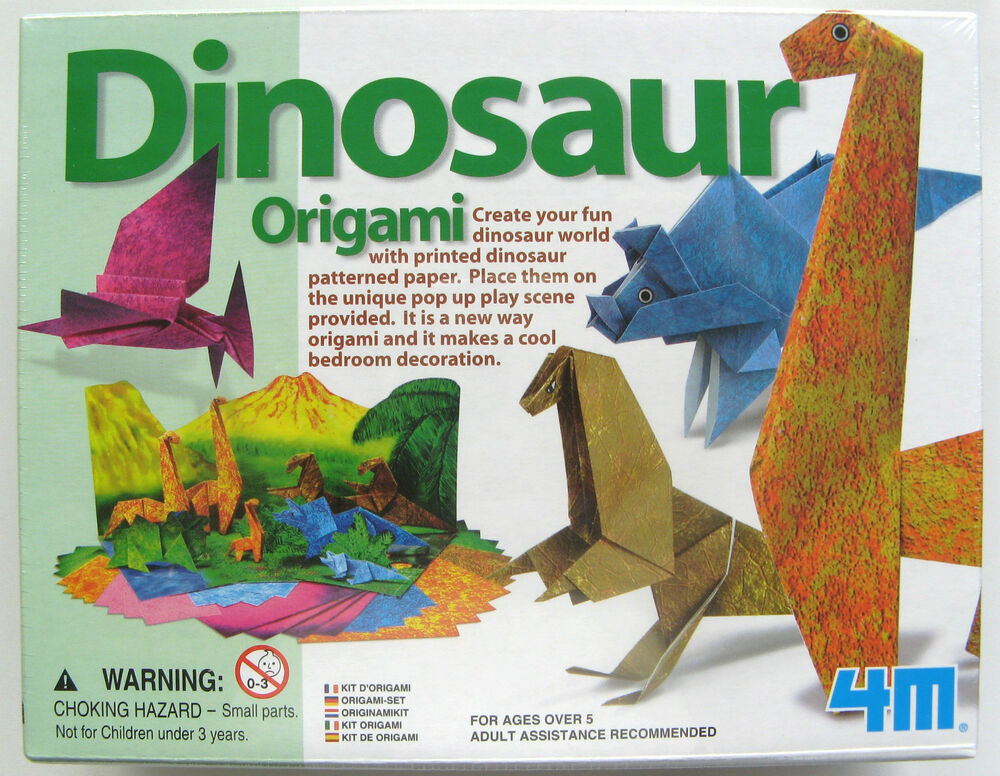 Make Your Own Origami Dinosaur Dinosaurs Brand New In Sealed Box