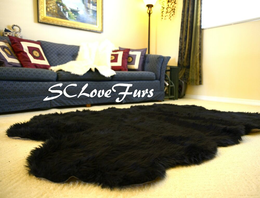 58 Quot X 84 Quot Quad Sheepskin Large Faux Fur Rug Bearskin