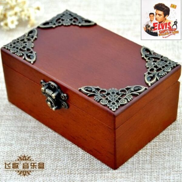 CLASSIC Rectangle jewelry Music Box : CAN'T HELP FALLING IN LOVE