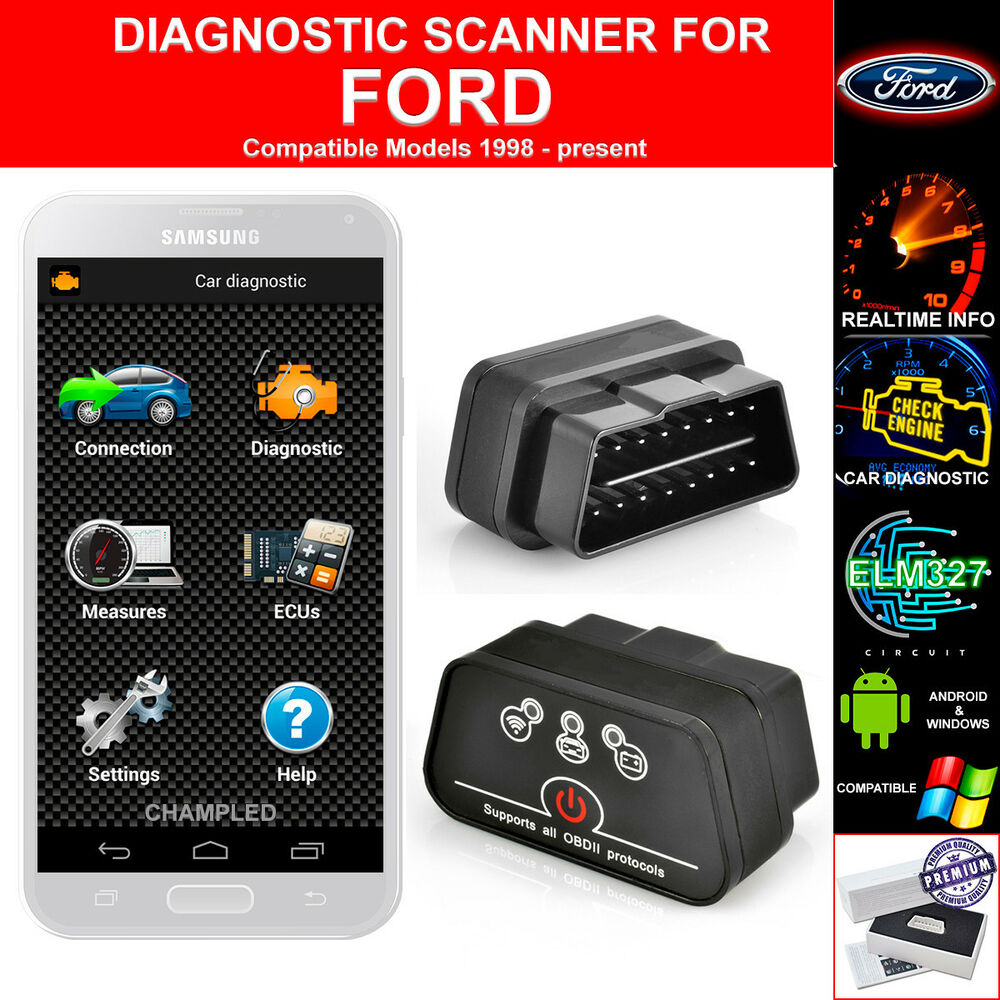 obd ii 2 for car auto diagnostic code scanner scan tool with power switch ford ebay. Black Bedroom Furniture Sets. Home Design Ideas