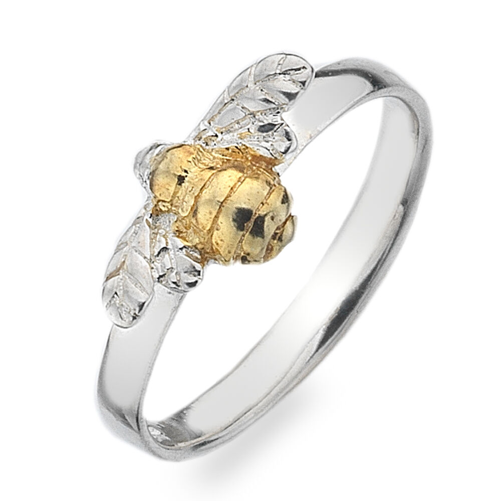 New Pure Origins Sterling Silver 925 Bee with Gold Plated ...