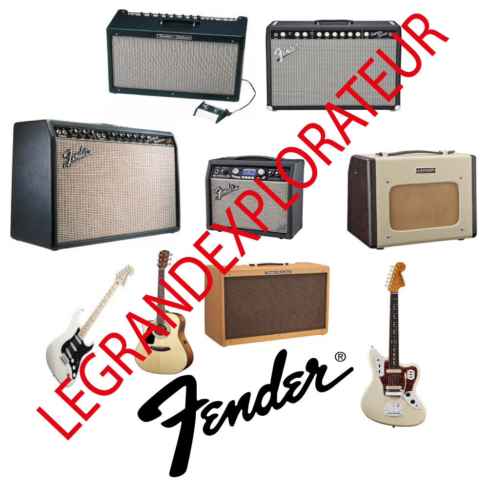 Ultimate Fender Operation Repair Service Manual 1020 Pdf Manuals Bassman 5f6 Tweed Guitar Effect Schematic Diagram On Dvd Ebay