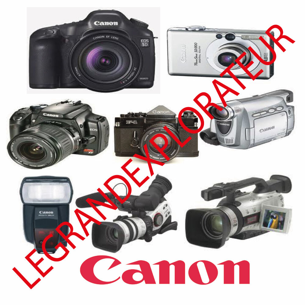 Ultimate Canon Digital Camera & Camcorder Repair Service Manual 510 PDF on  DVD | eBay