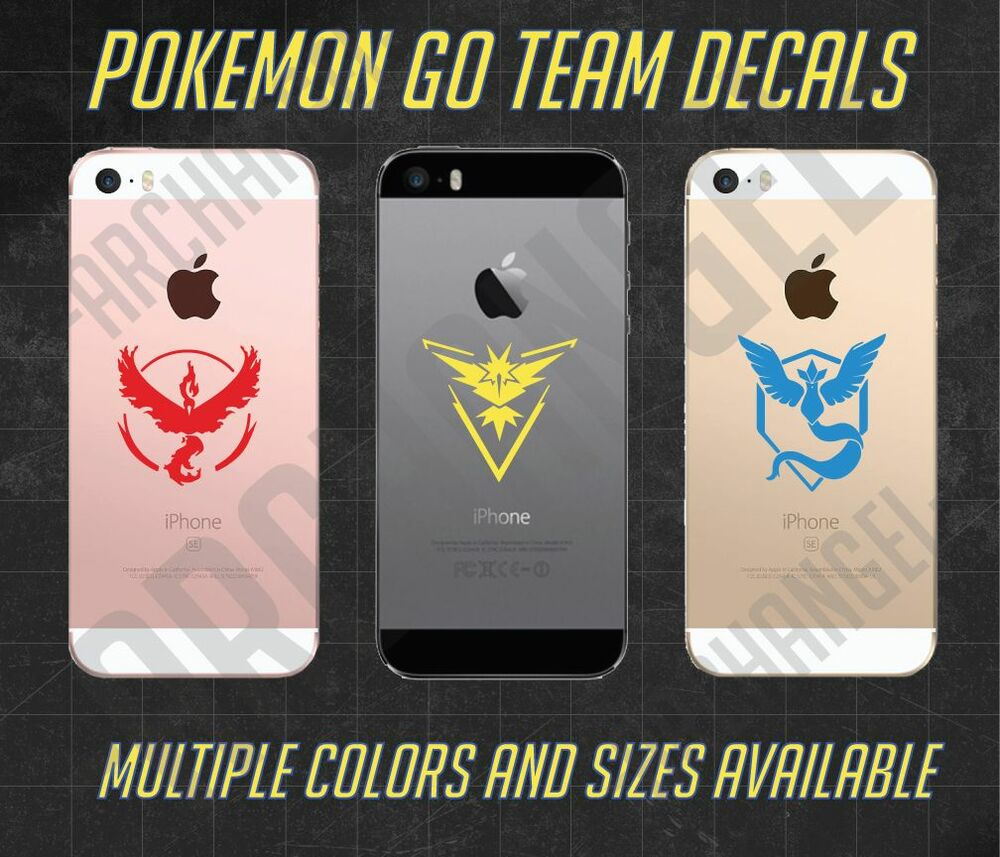 Details about Pokemon Go Team Vinyl Decals - Pokémon - Team Instinct, Team Mystic, Team Valor