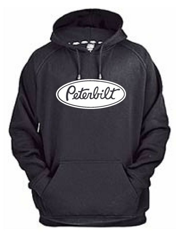 Peterbilt hoodie sweat shirt pullover jacket truck rig for How to not sweat through shirts