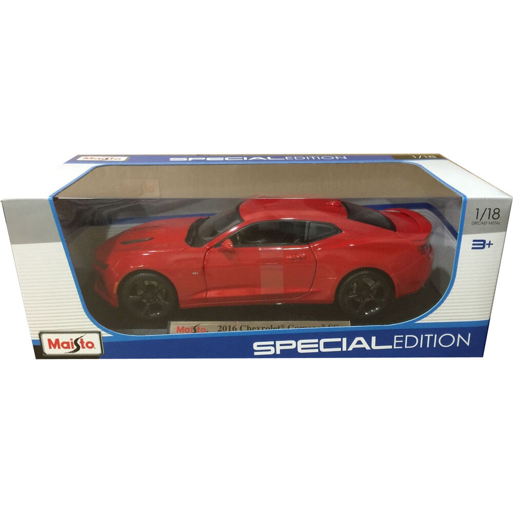 Maisto 2016 Chevrolet Camaro SS 1:18 Diecast Model Car Red