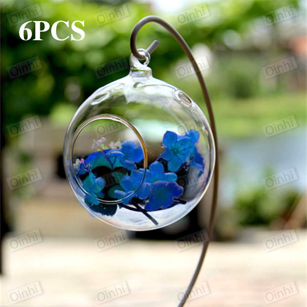 Hanging glass candle tealight holder clear bauble garden for Outdoor christmas baubles