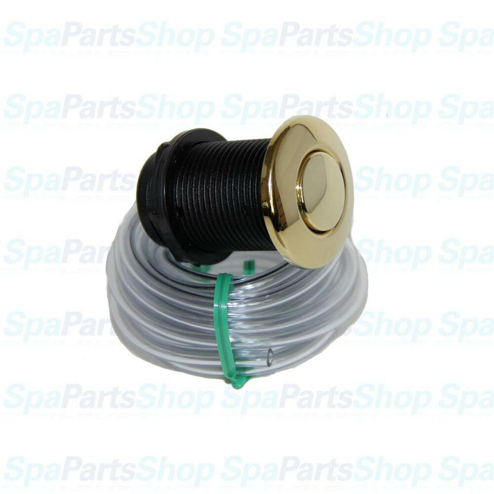 Air Switch For Jetted Tub : Whirlpool bath hot tub pump brass jet air button tubing