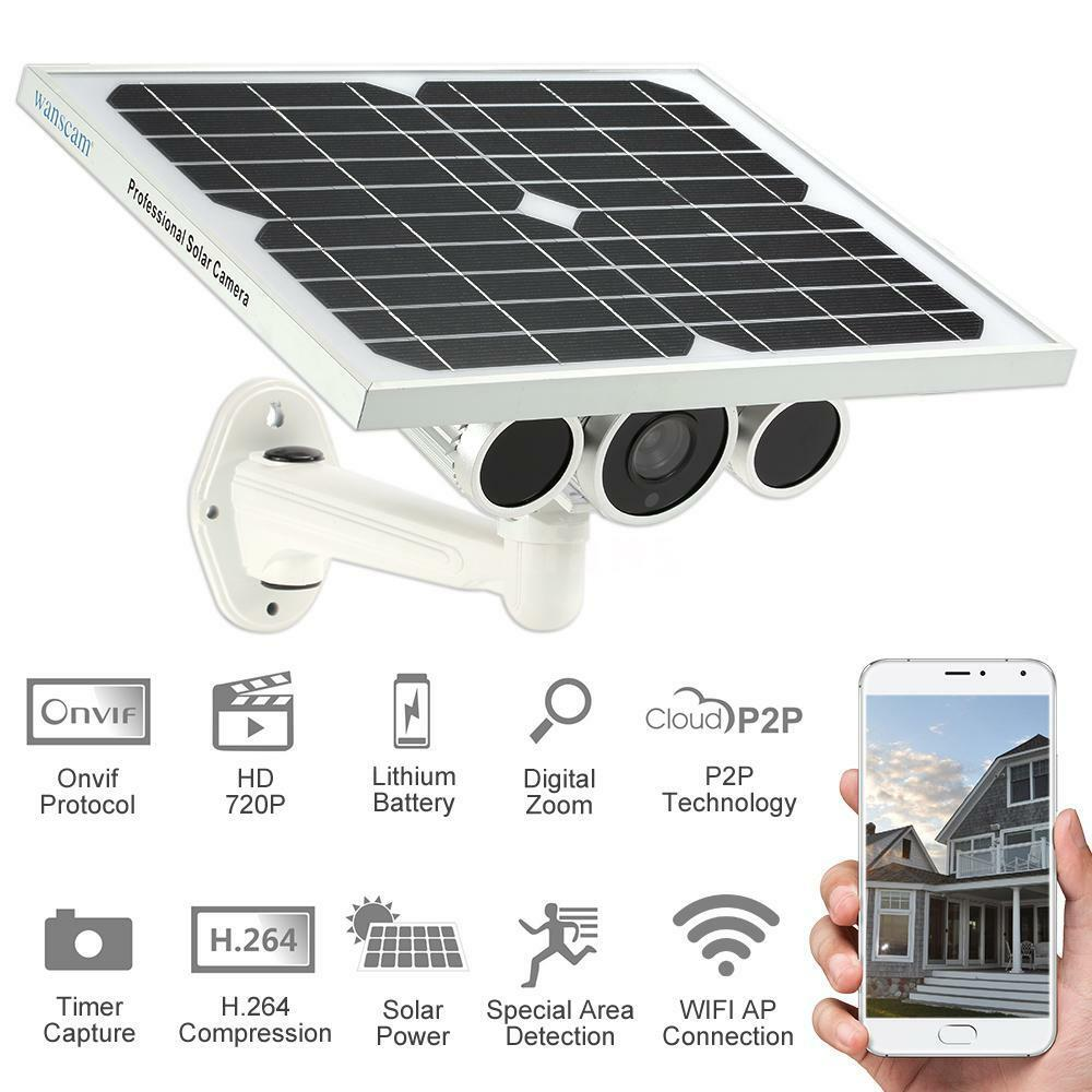 Solar Battery Power Wireless Wifi Ip Camera Outdoor
