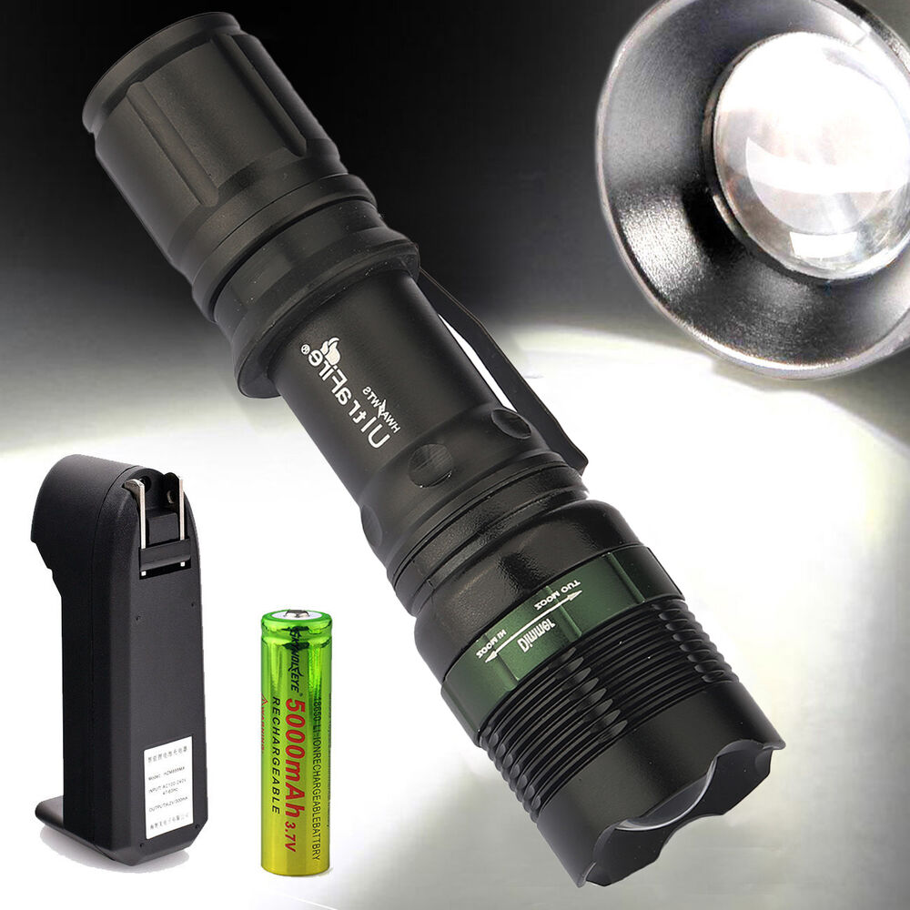 ultrafire military 5000 lumen led flashlight torch cree xm. Black Bedroom Furniture Sets. Home Design Ideas