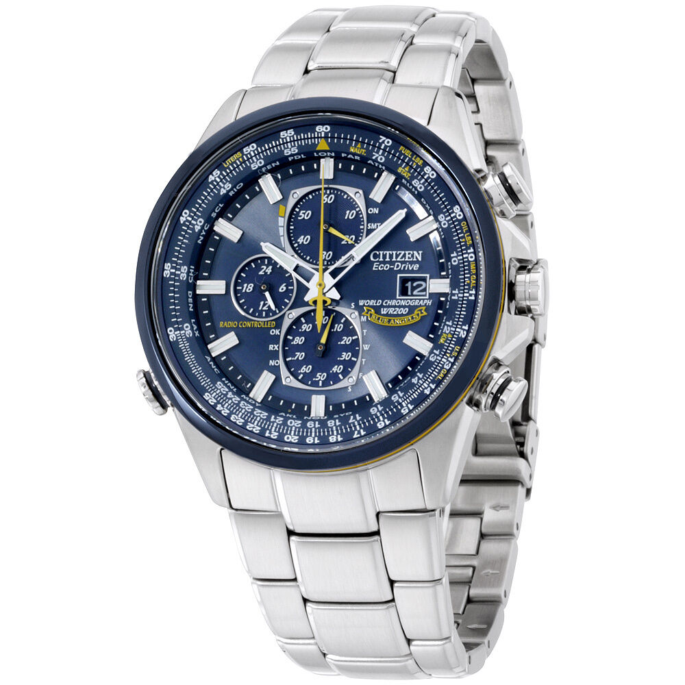 """Citizen Men's AT8020-54L """"Blue Angels"""" Stainless Steel Eco ..."""