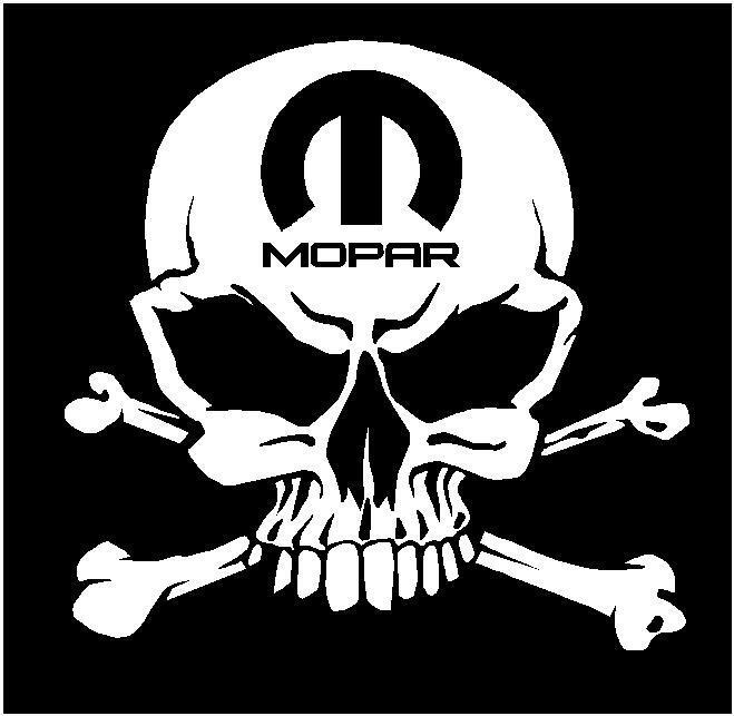 mopar skull decals dodge charger challenger ram muscle dart 1500 hemi car truck ebay. Black Bedroom Furniture Sets. Home Design Ideas