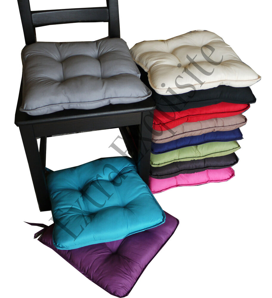 New Removable Thicker Cushions Chair Seat Pad Dining Bed Room Garden Kitchen Ebay