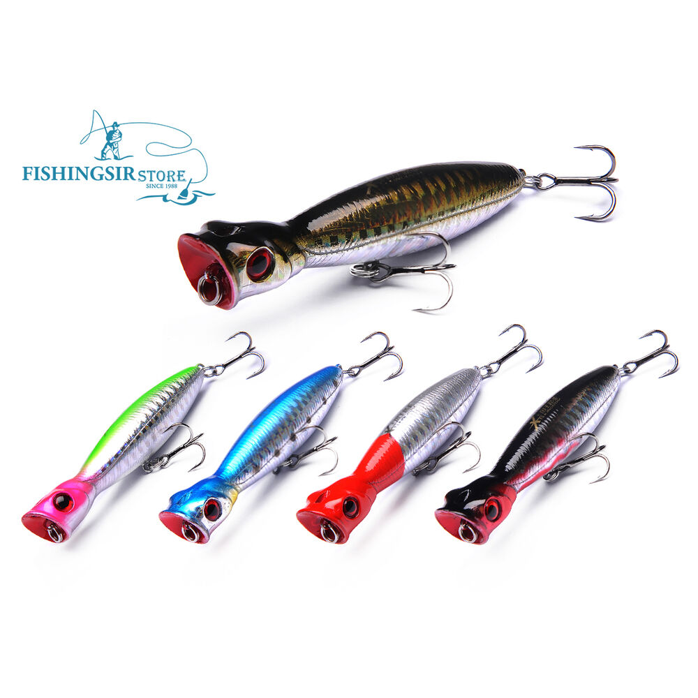 Newly Popper Surface Lures Topwater Hard Fishing Tackle