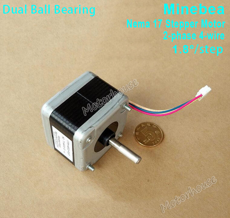 Minebea nema17 2 phase 4 wire stepper motor for reprap for 3 phase stepper motor