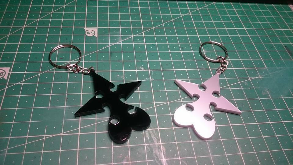 Keychain Pendant Necklace Kingdom Hearts Nobody Heartless Symbol