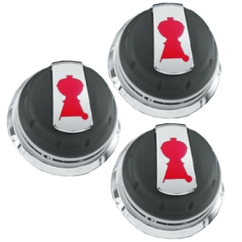 Weber Gas Grill 3pc Control Knob Set BBQ Burner Parts ...