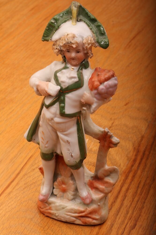 Vintage French Man In Green Pointy Hat Porcelain Figurine ...