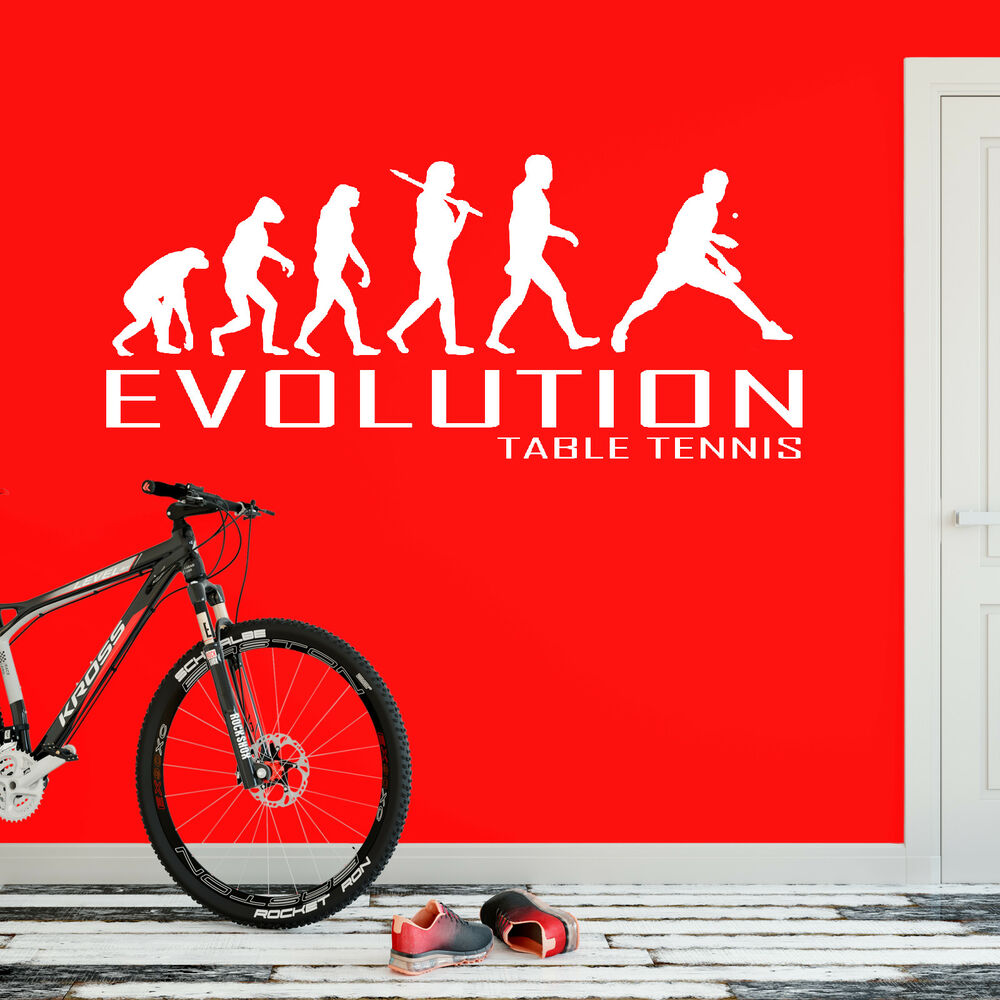 Evolution Of Table Tennis Wall Sticker Vinyl Decal Decors ...
