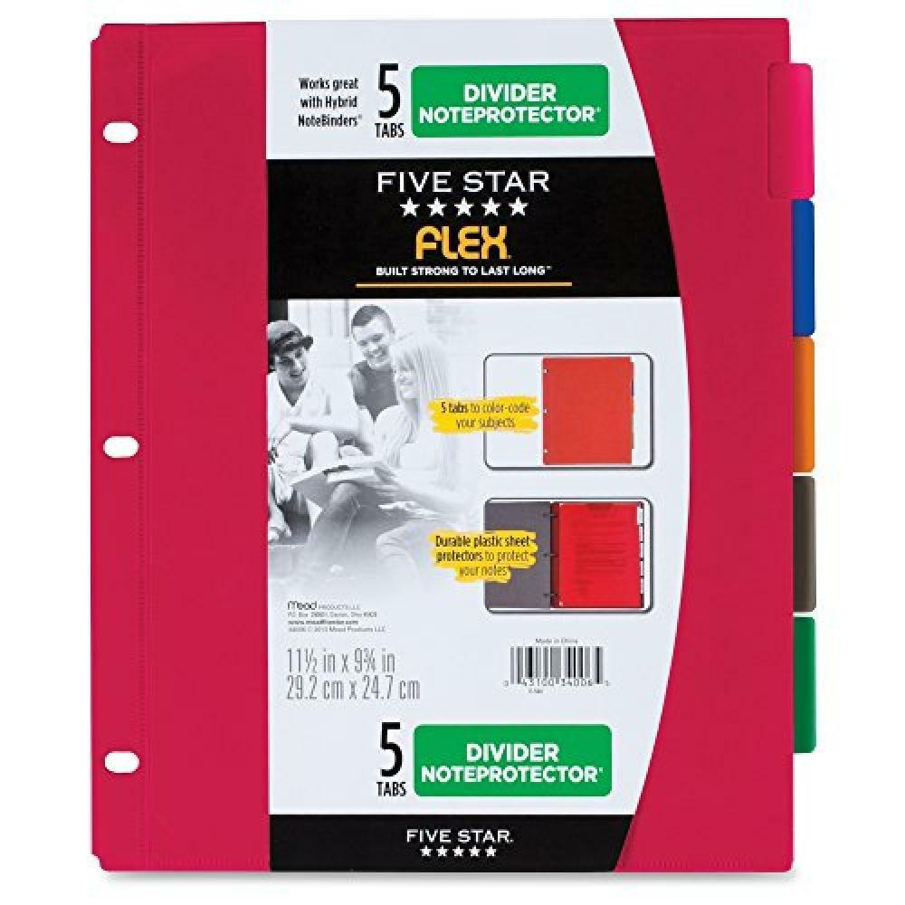 Five Star Dividers, Flex NoteProtector For NoteBinder 3