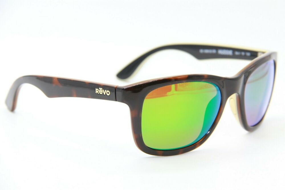 fe43b559081 Details about REVO RE 1000 02 GN HUDDIE TORTOISE FRAME AUTHENTIC POLARIZED  SUNGLASSES 54-19