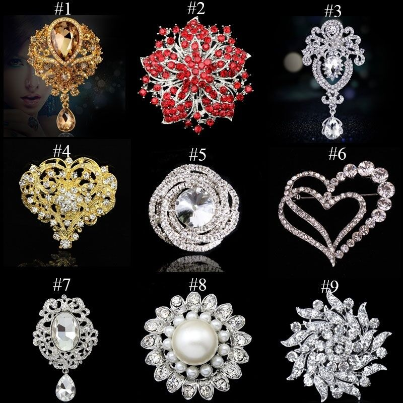 fashion bling rhinestone pin brooch wedding bridal dress decor party jewelry new ebay. Black Bedroom Furniture Sets. Home Design Ideas
