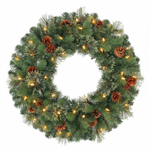 24 pre lit battery operated wreath new ebay. Black Bedroom Furniture Sets. Home Design Ideas