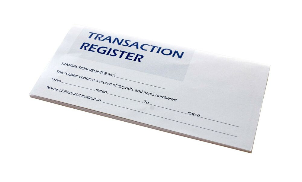 Business Cheque Book Cover : Checkbook transaction registers calendar
