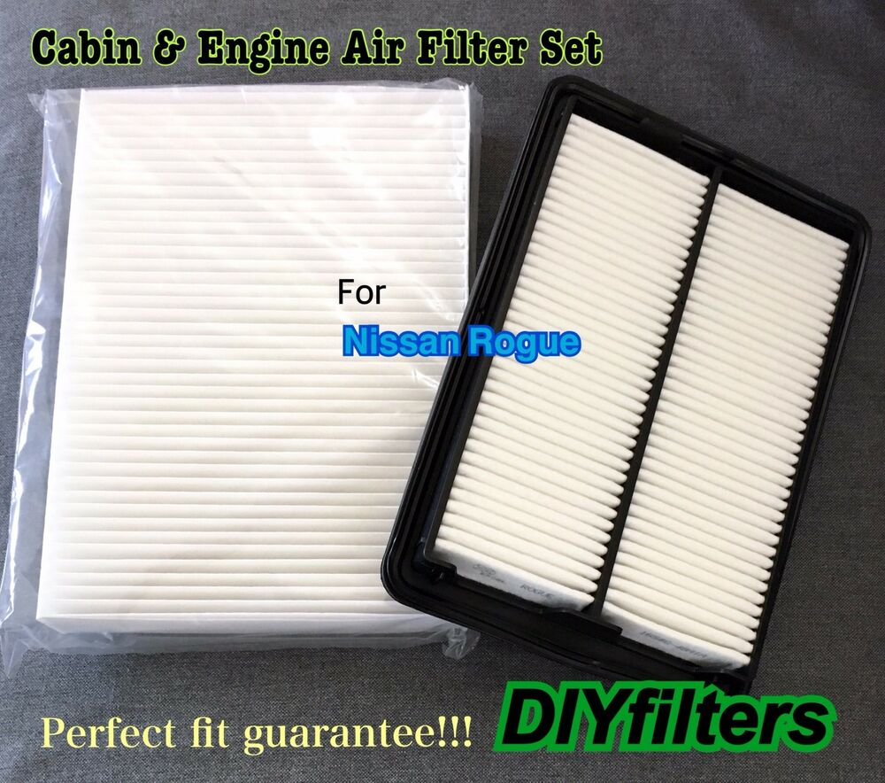 combo set for 2014 2016 rogue engine air filter and cabin air filter ebay. Black Bedroom Furniture Sets. Home Design Ideas
