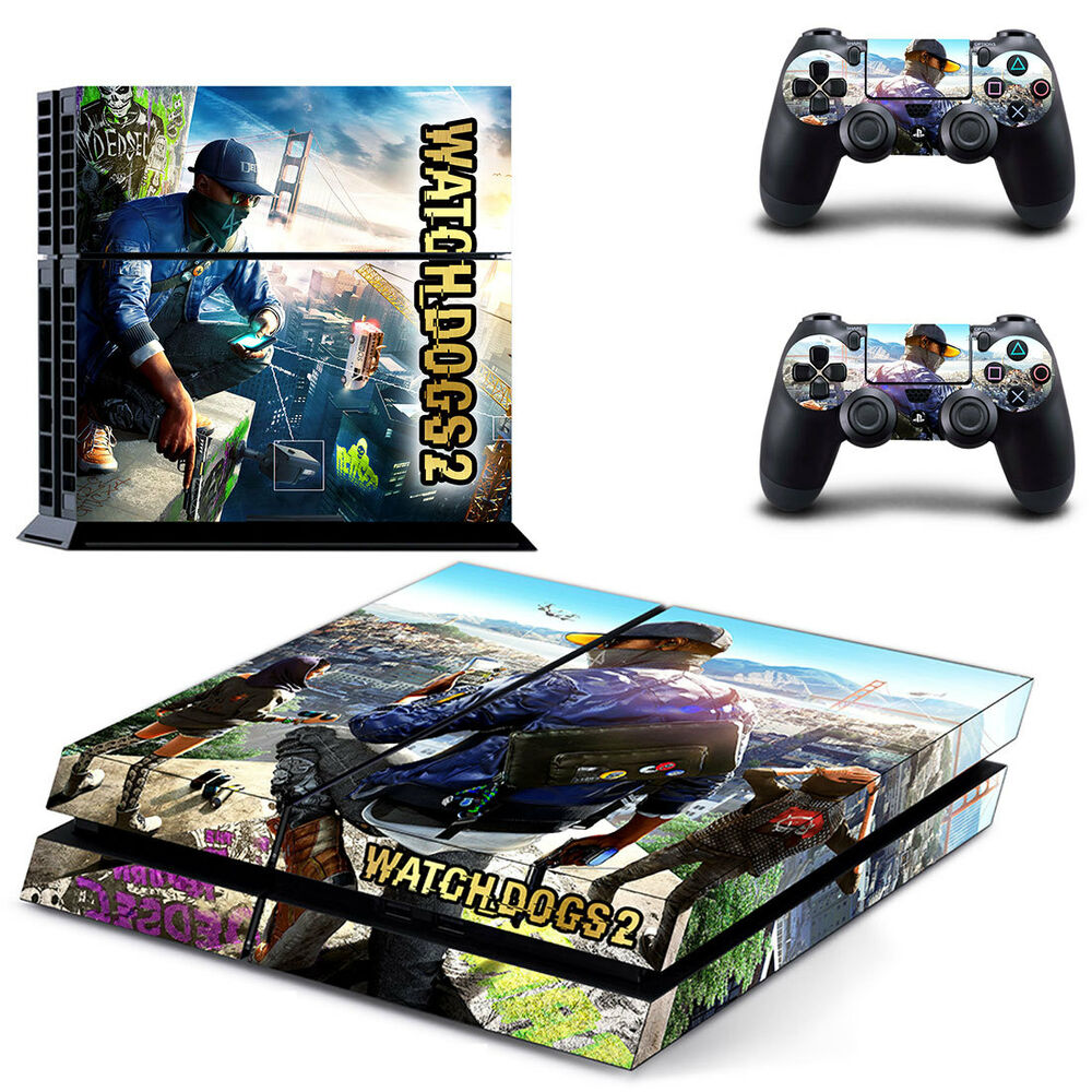 Watch Dogs 2 Vinyl Skin Sticker Cover For Sony PS4 ...