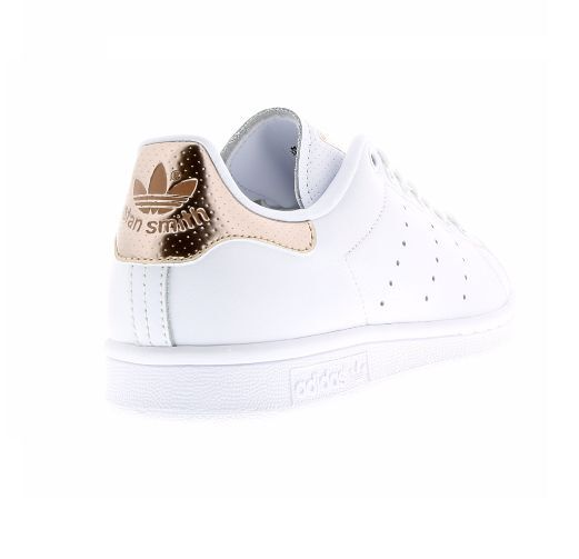 original adidas stan smith white rose gold metallic women 39 s girls trainers ebay. Black Bedroom Furniture Sets. Home Design Ideas