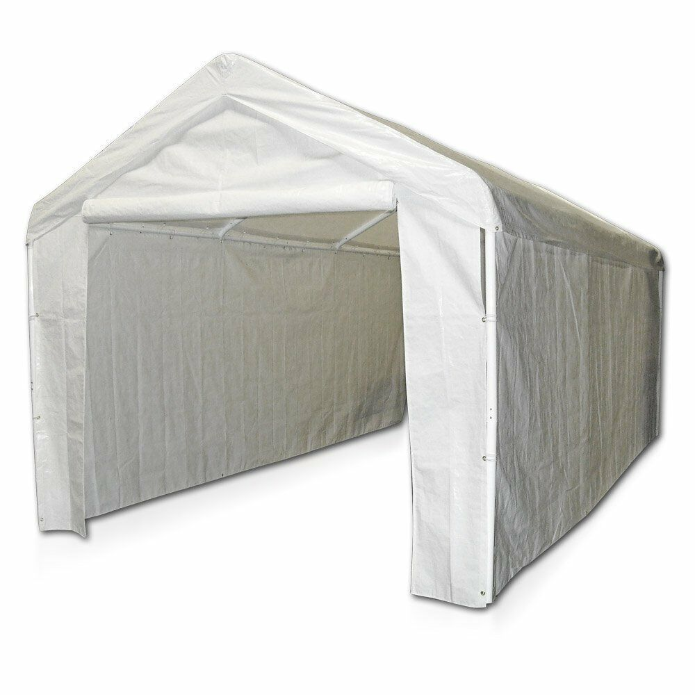 Portable Garage Side Wall Kit Canopy Cover Tent Park Car ...