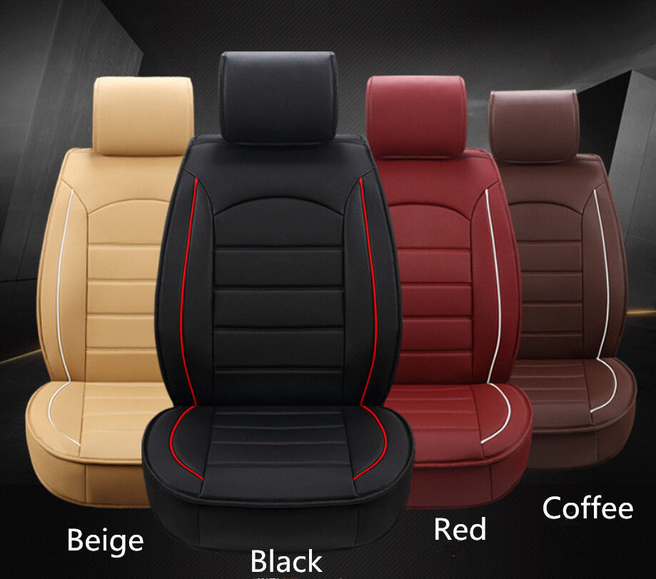 smooth car seat cushion fabric leather front seat cover four seasons for all car ebay. Black Bedroom Furniture Sets. Home Design Ideas