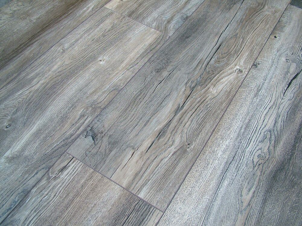 Harbour grey oak laminate flooring pallet deal ac4 8mm 4v - Laminate or wood flooring ...