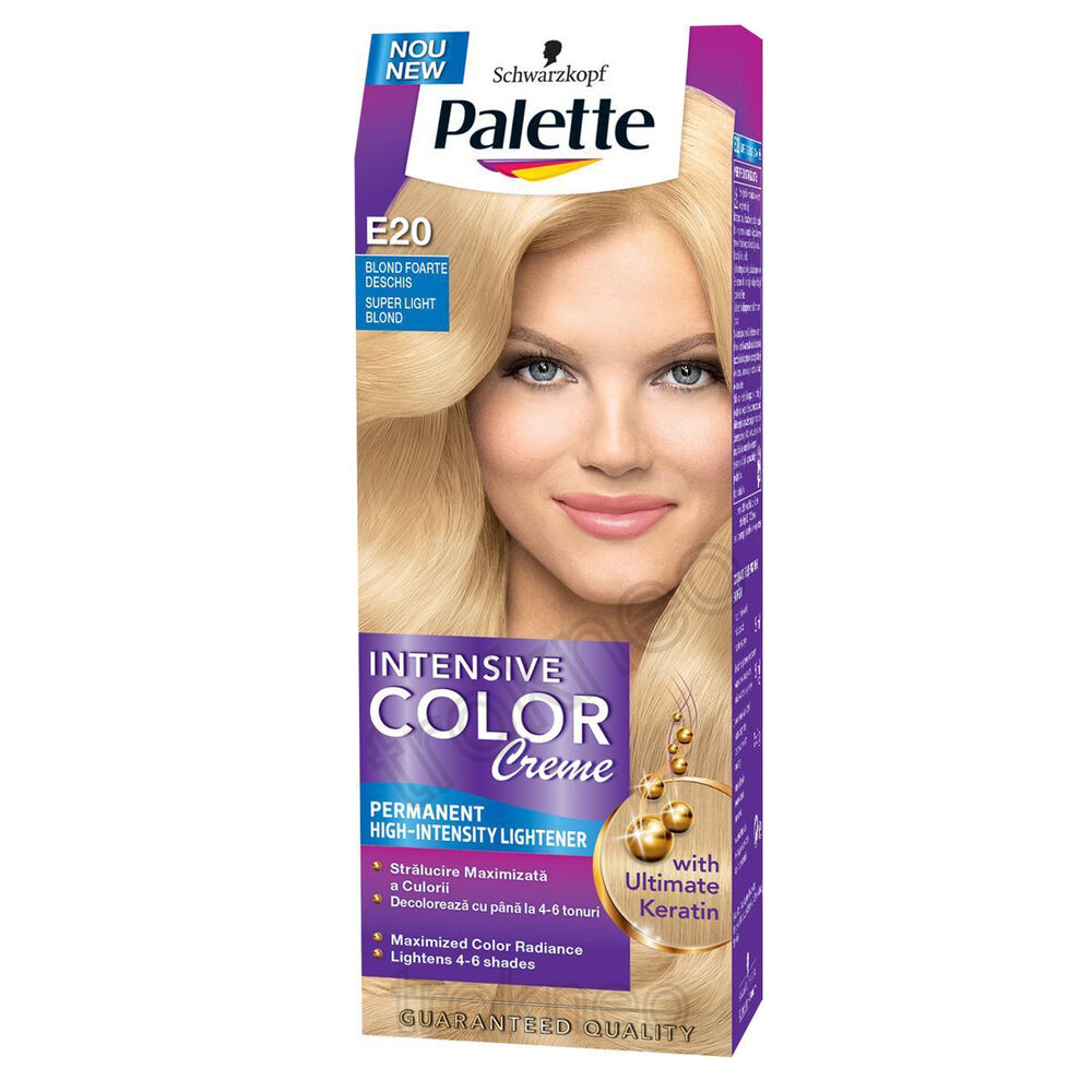 Schwarzkopf Palette E20 Super Light Blond Intensiv Color