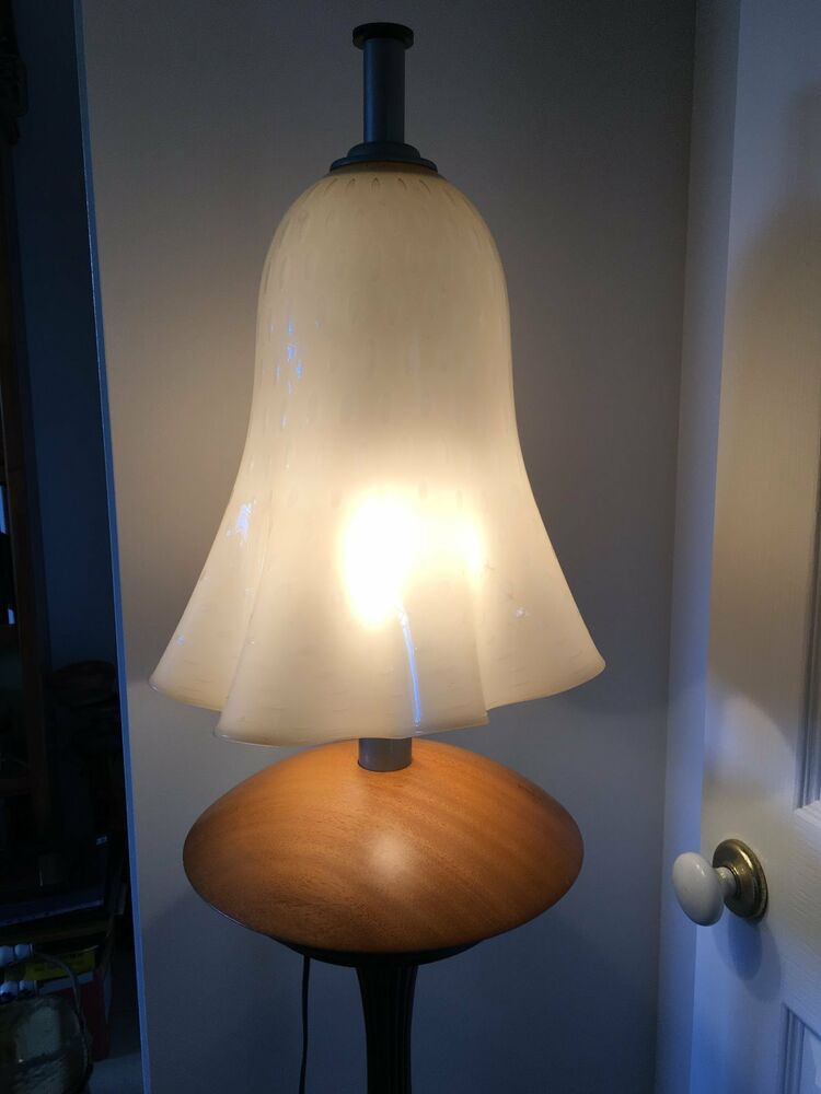 Large Retro Mushroom Bubble Glass Table Lamp Unique Ebay