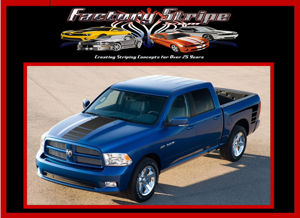 2008 2009 2010 20112013 Dodge Ram Power Stripe Kit Vinyl