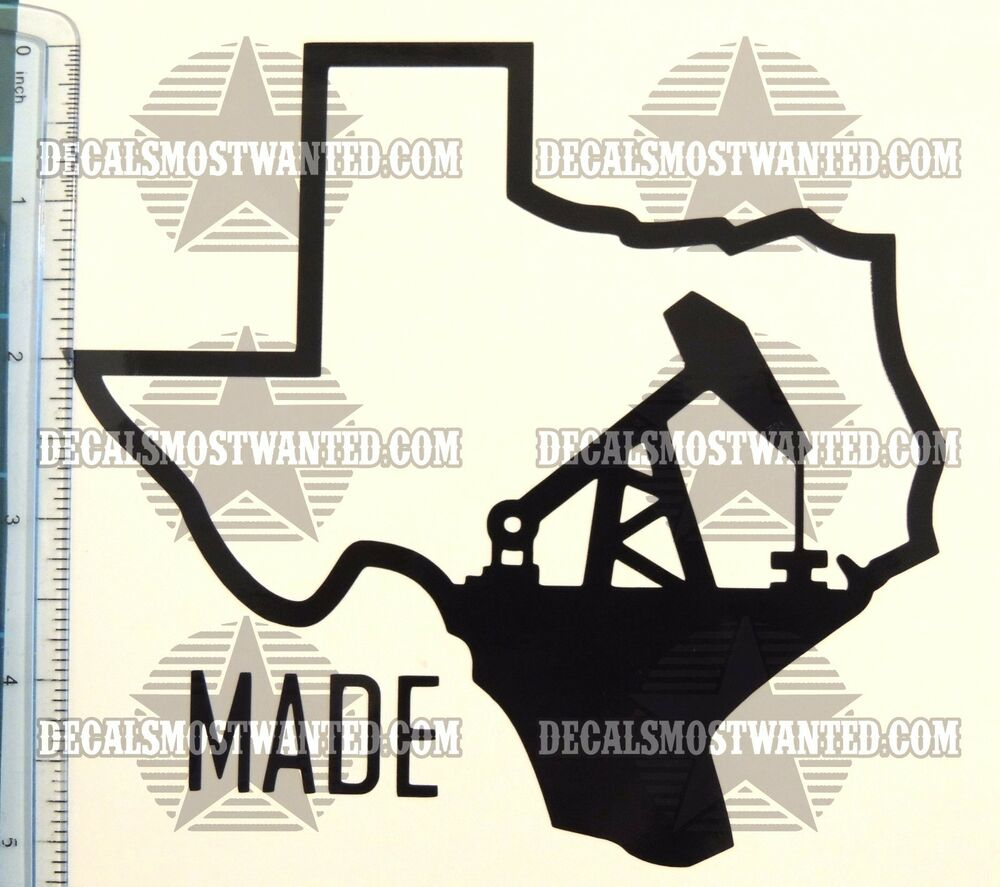 Texas Certified Motors >> Texas Made state Drill Oil Rig Oilfield Roughneck sticker ...