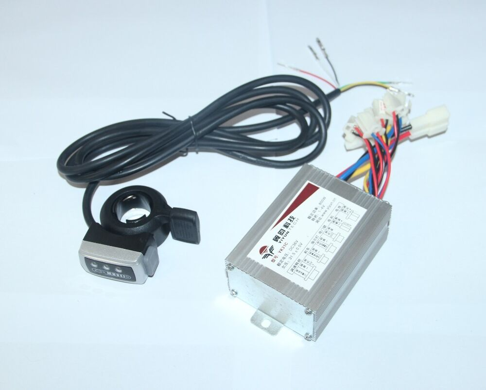 36v 500w Motor Brushed Controller Speed Control Thumb Twist Throttle E