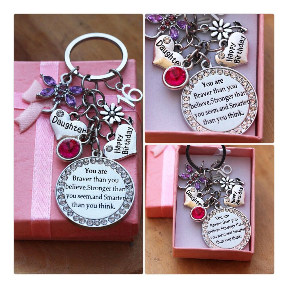 Happy Birthday Keepsake Gift Keyring -13th 18th 21st 30th