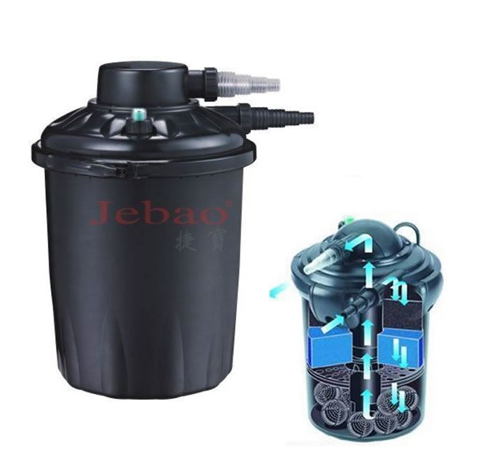 Jebao pf20e fish pond pressure filter uv 10000l 18w uv for Pond filter system with uv light