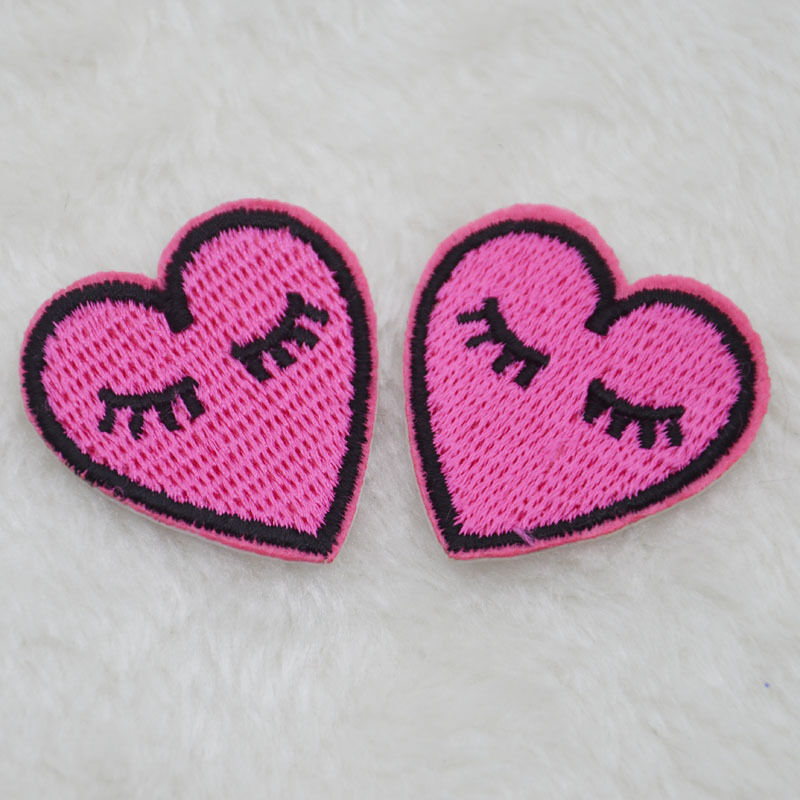 Shy Love Long Eyelashes Embroidery Iron/sew On Patch
