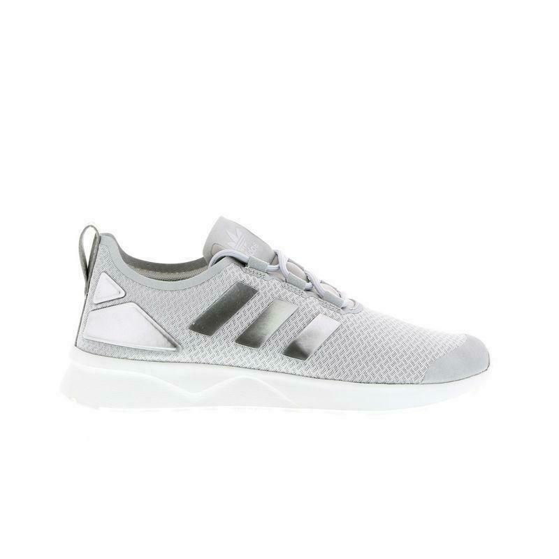 buy popular 025a6 84a4d Details about Womens ADIDAS ZX FLUX ADV VERVE Silver Trainers AQ6825