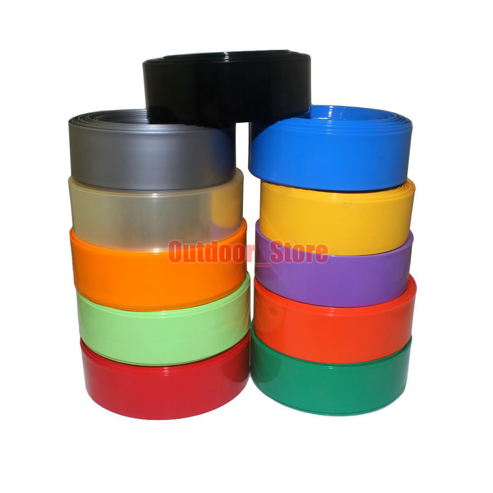 7mm 49mm new pvc heat shrink tubing wrap 11 color ebay. Black Bedroom Furniture Sets. Home Design Ideas