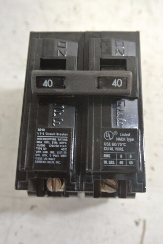 siemens 2 pole 40 amp 240 volt circuit breaker cat q240 type qpdetails about siemens 2 pole 40 amp 240 volt circuit breaker cat q240 type qp