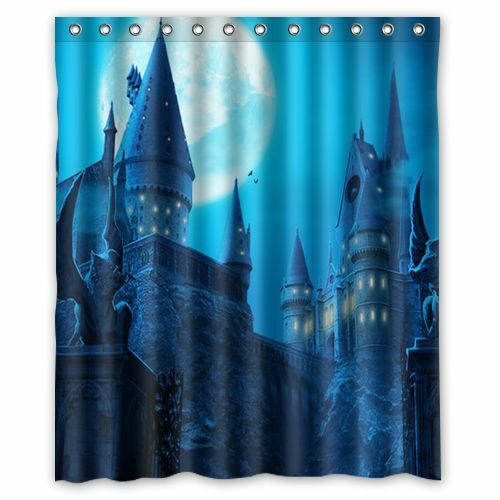 Custom harry potter castle waterproof shower curtain bathroom curtain 60x72 inch ebay Bathroom decor ideas with shower curtain