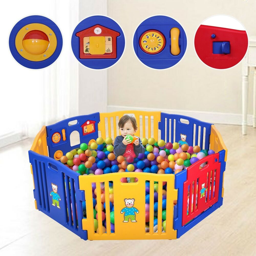 baby playpen 8 panel safety play center