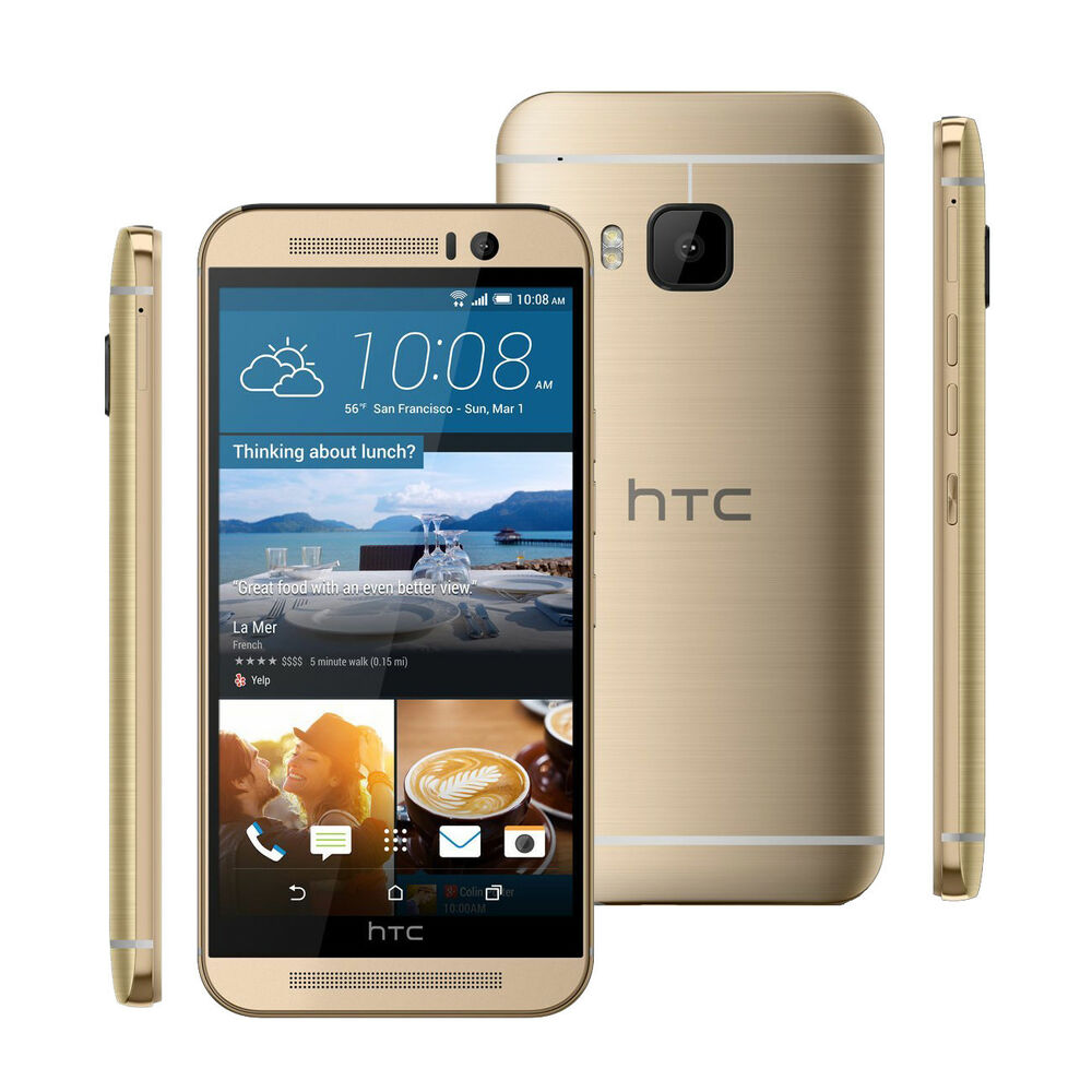unlocked htc one m9 32gb 20 0mp gsm 3g 4g lte smartphone amber gold 610214640055 ebay. Black Bedroom Furniture Sets. Home Design Ideas